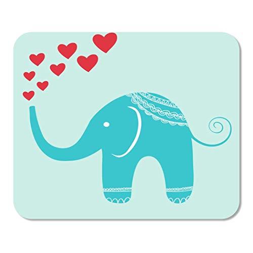 Mousepad Computer Notepad Büro Rosa Charakter Orientalischer Elefant Brunnen der Herzen Rot Kindisch Heimschule Game Player Computer Worker