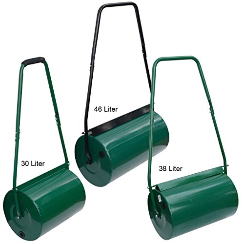 Crystals Garden Outdoor Lawn Aerator Heavy Duty Manual Handle Rolling Grass Roller (30L) Gardening Garden & Outdoors