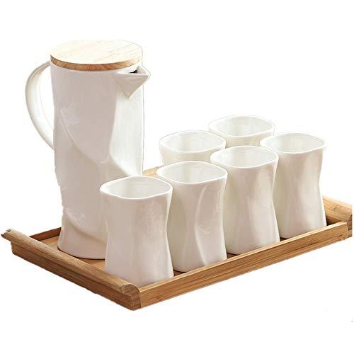 LichaoWen Tea Set elegante theekopjes van porselein, minimalistisch, creatief, Scandinavische stijl, ideaal voor verjaardag, bruiloft, Kerstmis, design