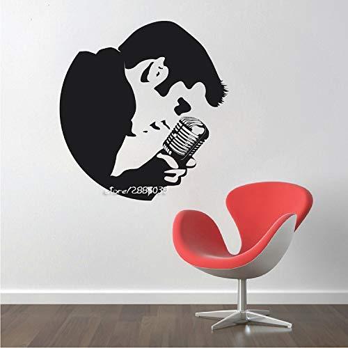 Elvis Großes Schlafzimmer Wandaufkleber Kunst Aufkleber Schablone Aufkleber Matt Vinyl Jungen Room Decor Tapete Hochwertige Wandtattoo 58 * 61 cm