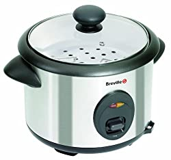 Brushed stainless steel 1.8 L capacity rice cooker Slow and even steam cooking for rice, vegetables, fish and pasta Keep warm function and measuring cup and spatula Internal steamer tray and removable non-stick bowl for serving at the table Tempered ...