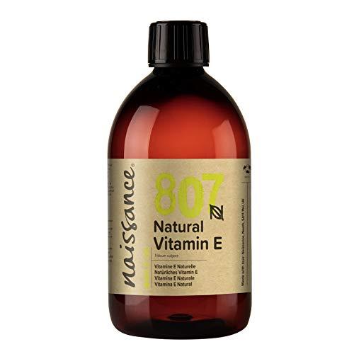 Naissance Vitamin E Oil (no. 807) 500ml - Natural, Vegan, Cruelty Free, Hexane Free, No GMO