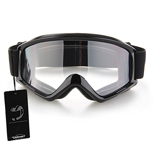 Foxpic - Occhiali multifunzione da cross per motocross, occhiali di protezione antipolvere nero