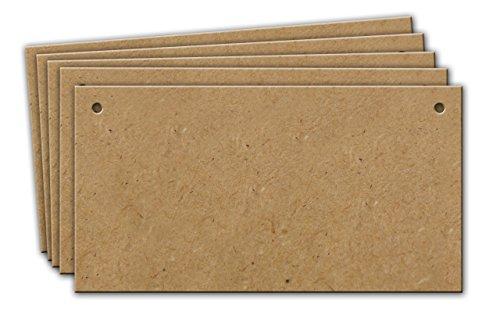 150 x 80 mm Schild (blanko) aus Holz zum Aufhängen, 10 Stück