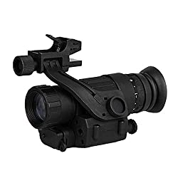 HRYHY Infrared Night Vision Monocular Telescope,28mm Objective Lens Diameter,Digital HD Helmet-Mounted Night Vision Device Hunting Night Observation Patrol Monoculars