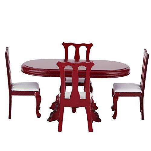Asixxsix Puppenhaus Tisch, Glatte Oberfläche ohne Grate Puppenhaus Möbel Spielzeug, rücksichtsvoll und interessant für Zuhause Geschenk Schlafzimmer Dekoration