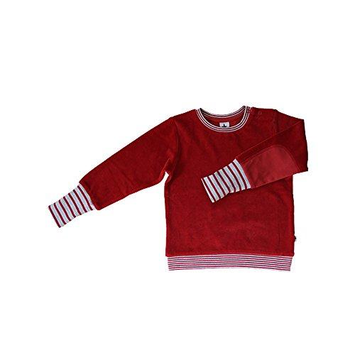 Leela Cotton Baby/Kinder Nicky Sweat-Shirt Bio-Baumwolle, Ziegelrot, Gr. 98/104