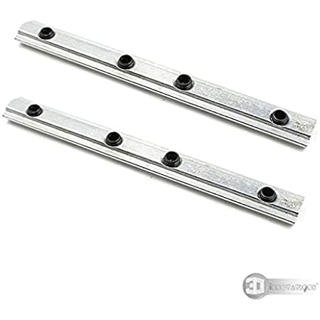 3DINNOVATIONS 2020 Series Aluminum Profile Straight Line Connector, Length 100mm Bracket Fastener with M5 Screw, For T Slot 6mm Aluminum Extrusion Profile Connect Parts (2 pcs)