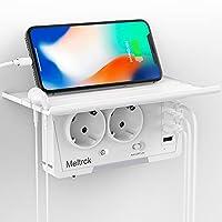 💡Breite Kompatibilität: 2 große AC-Steckdosen und 4 USB-Anschlüsse liefern 3,1 Ampere Gesamtleistung, versorgen Ihre 6 elektrischen Geräte gleichzeitig. Wandsteckdosenverlängerung für jeden Bereich, um eine Ladestation in jedem Raum für jedes Smartph...