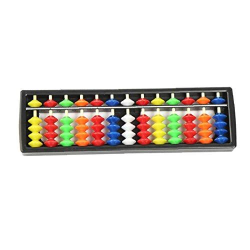 LAANCOO Kunststoff Abacus Arithmetic Soroban Berechnung Werkzeug 13 Rods mit bunten Perlen Große Lernprogramm für Kinder 1pcfor Indoor-Outdoor-Multi Anwendungen