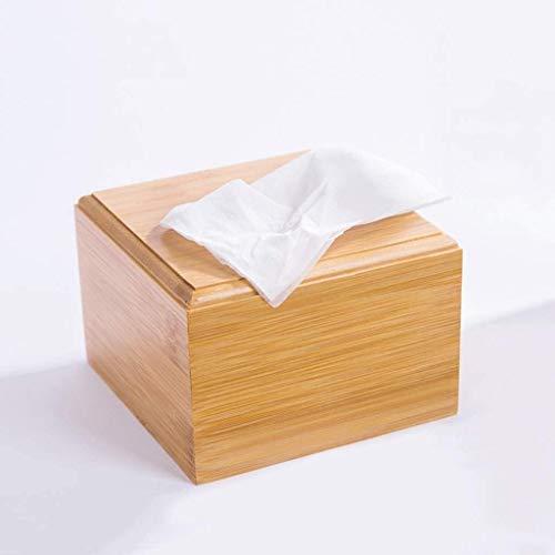 Caja de tejido de madera maciza de cubo, Caja de papel higiénico de baño WC Caja de tejido simple Decoración para el hogar Bandeja de inodoro Tenedor de papel higiénico Contenedores de almacenamiento