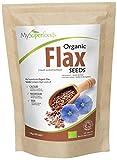 MySuperFoods Semillas de Lino Orgánicas 1Kg, Fuente Natural de Omega-3 y Fibra