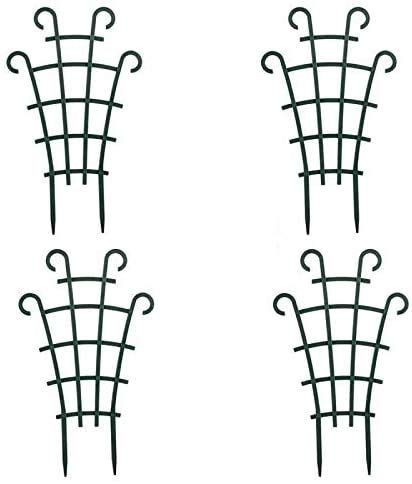 UWIOFF Trellis for Potted Plants, Mini Garden Trellis for Climbing Plants Stackable Plant Trellis Plastic Potted Plant Support DIY Climbing Trellis Flower Pots Supports, 4 Pack
