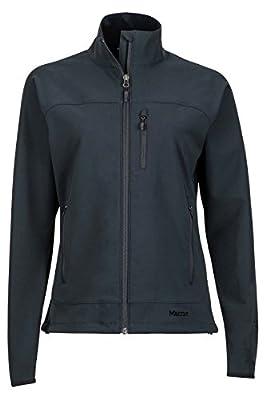 Marmot Women's Tempo Softshell Jacket, Jet Black, Medium
