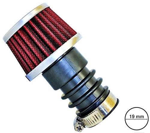 Tuning Sport Luftfilter 19 mm Chrom für Mofa und Moped