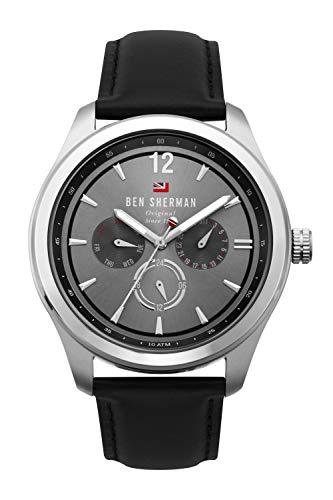 Ben Sherman Herren Multi Zifferblatt Quarz Uhr mit Leder Armband WBS112B