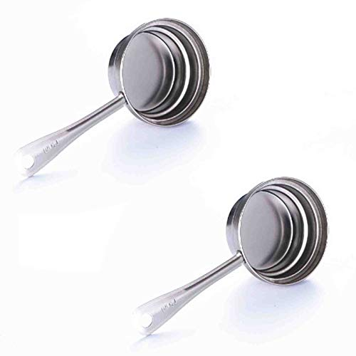 Measuring Cup and Measuring Spoon Set 2pcs Stainless Steel Measuring Spoon with Three Capacities,Suitable for Measuring Dry and Liquid Ingredients