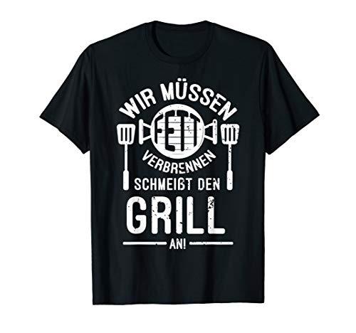 Grill Fans   Lustiges Fett Verbrennen Griller Retro Spruch T-Shirt