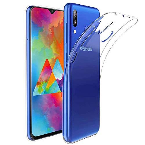 Amonke Funda Samsung Galaxy M20 - Silicona Transparente TPU Carcasa, Ultra Slim Cristal Clear Flexible Suave Antigolpes Antiaraazos Bumper Case Cover para Movil Samsung Galaxy M20
