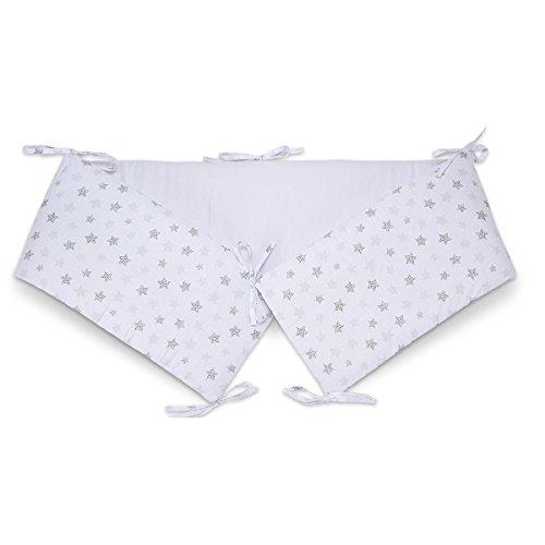 FabiMax 3641 Nestchen für Beistellbett Basic, 90x50 cm, Sterne klein, weiß