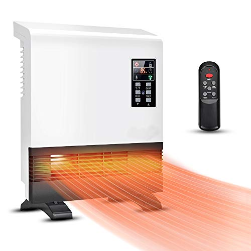 Electric Heater - 1500W Space Heater, Wall Mounted Room Heater with Standing Base, Energy Saving, Timer, 3 Modes, Quick Heat Electric Space Heater, Wall Heater for Bedroom, Bathroom, Living Room Electric heaters Space