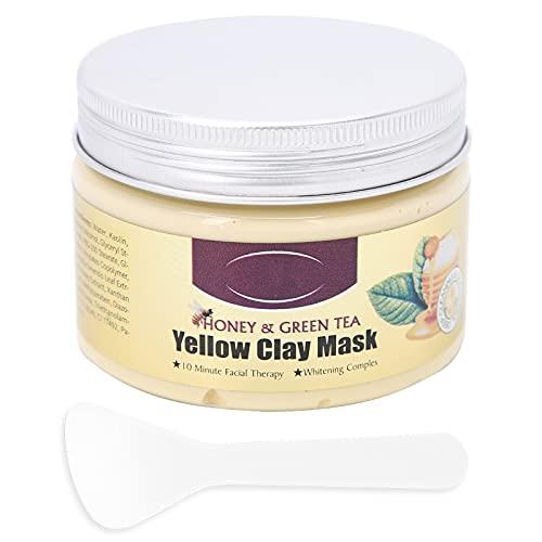 150 G di Maschera All argilla Al Tè Verde Al Miele, Maschera per la Rimozione dei Punti Neri Maschera per la Pulizia del Viso All argilla, Cura della Pelle Naturale per Donne e Uomini
