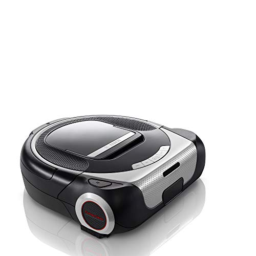 Bosch Saugroboter Roxxter Serie 6 BCR1ACDE, Roboter-Staubsauger mit Laser-Navigation, Home Connect & Alexa App-Steuerung, Hygiene-Filter, Raumerkennung, No-Go-Zones, silber/schwarz