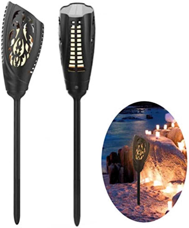 Wuchance Solar 5W LED warmes weies Flammen-Licht wasserdicht für Garten-Weg-Rasen-Wand-Landschaftslampe im Freien