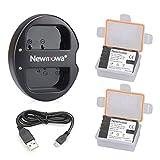 Newmowa DMW-BLF19 DMW-BLF19E Batería de repuesto (2-Pack) y Kit de Cargador Doble para Micro USB portátil para Panasonic DMW-BLF19 Panasonic DMW-BLF19E Panasonic Lumix DMC-GH3 DMC-GH3A DMC-GH3H DMC-GH4 DMC-GH4H DC-GH5 DC-GH5S
