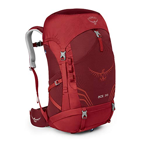 Osprey Ace 38 Wanderrucksack für Kinder, unisex - Paprika Red (O/S)