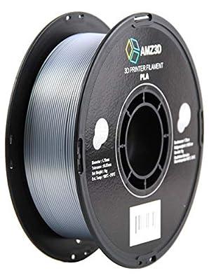 1.75mm Silk Silver PLA 3D Printer Filament - 1kg Spool (2.2 lbs)