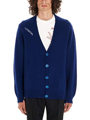 RICCARDO COMI Luxury Fashion Mens AW19GR05CLEOPASSIONFRUIT Blue Cardigan | Fall Winter 19