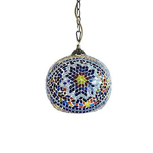 IW.HLMF Lámpara Colgante marroquí turca Lámparas Colgantes de Vidrio de Estilo Hecho a Mano Araña Árabe Bohemia Oriental otomana Mosaico Iluminación de Techo para Cocina Café Bar Comedor
