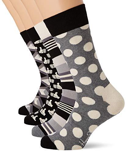 Happy Socks Herren Black and White Gift Box Socken, Mehrfarbig (Multicolour 900), 7/10 (Herstellergröße: 41-46)