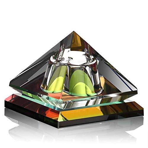 Opuntia Mo Luxor Shape - Botellas de perfume para coche, rellenables, de lujo, con cristal para decoración