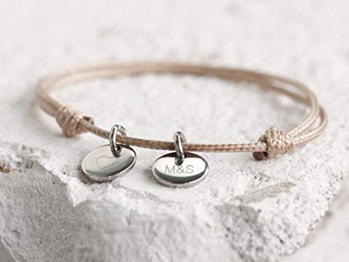 Namensarmband Gravurarmband Freundschaftsband mit Gravur Kindernamen Personalisiertes Armband Einheitsgröße Armband personalisiert