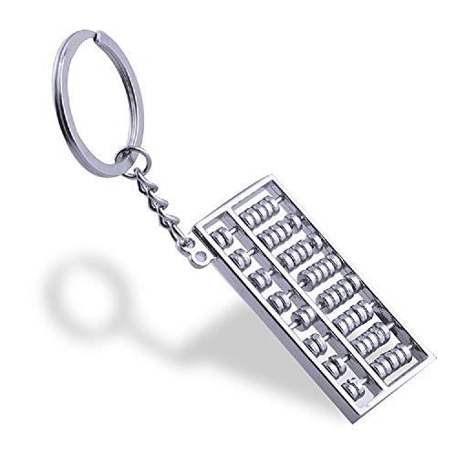 Llavero llavero de metal Abacus para llaves de coche niños niñas hombres mujeres (Color : Metallic)