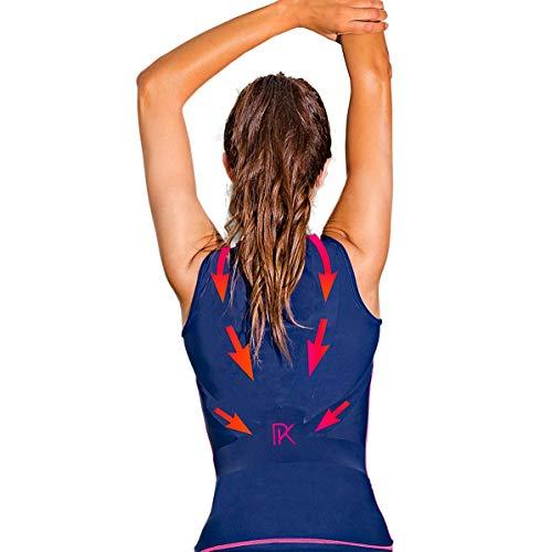 Percko - Lyne Fit Correcteur de Posture pour le Sport – T-shirt de Sport Femme - Lavable 30°- Protège et Renforce le Dos Pendant l'Effort Physique