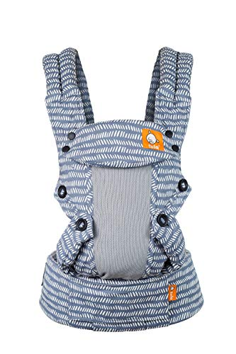 Baby Tula Coast Explore Mesh Baby Carrier 7 – 45 lb Adjustable Newborn to Toddler Carrier Multiple Ergonomic Positions Front and Back Breathable – Coast Beyond Light Blue with Light Gray Mesh