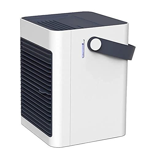 SMSOM Aire acondicionado portátil, ventilador de aire acondicionado evaporativo con 3 velocidades, aire acondicionado personal USB Aire acondicionado Personal Air Cooler Air Acondicionador de aire par