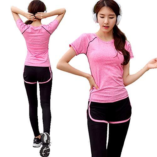 (グローバルビューティラボ)スポーツ トレーニング ヨガ ウェア レディース 3色 上下 パンツ 半袖 セット...