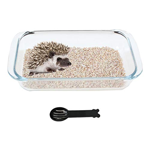 Hamster Sand Bath Critters' Shower Bathtub Cooling Bed House for Hedgehog Squirrel Hamster Guinea Pigs and Other Small Animals with Scoop
