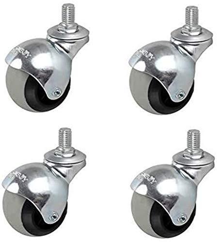 4pcs Muebles Ruedas Universal Rueda 1.5/2 Pulgadas esférica esférica del Silencio Muebles de Muebles de Mudo Sofá Mesa de Centro Caster (Size : 1.5 Inch Wire Teeth 10mm)