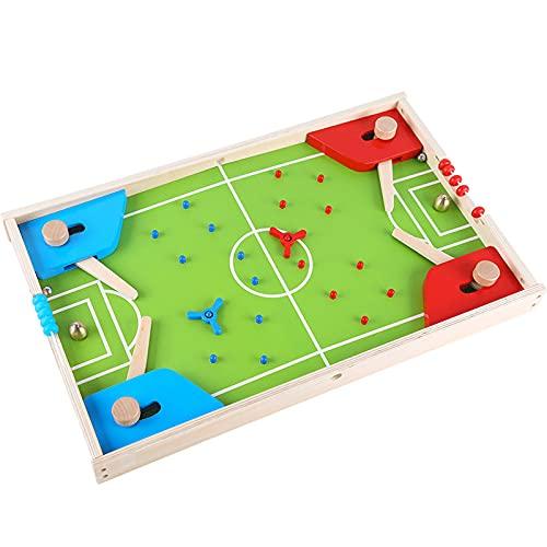 Tres en uno Juego de fútbol de Mesa Juego de Mesa Educativo para niños Doble Versus Multifuncional Juguetes de Madera interactivos para Padres e Hijos,56 * 35 * 5 cm