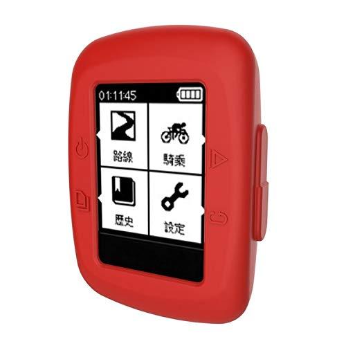 HXESP Housse de protection en silicone pour GPS Garmin Edge 500/200 Rouge