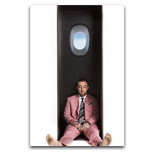 WPQL Rest in Peace Mac Miller Hip Hop Singer Cover Poster canvas art mural picture printing modern family boy bedroom decoration poster 16'×24'(40 * 60cm)