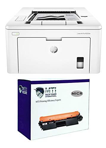 MICR Toner International Laserjet Pro M203dw MICR Check Printer Bundle with 1 MTI CF230A Modified OEM MICR Toner Cartridge (Pack of 2)