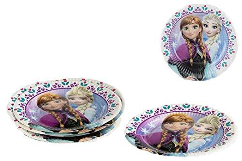 Disney Frozen Frozen de platos Anna Elsa Olaf 19,5 cm 8 unidades)