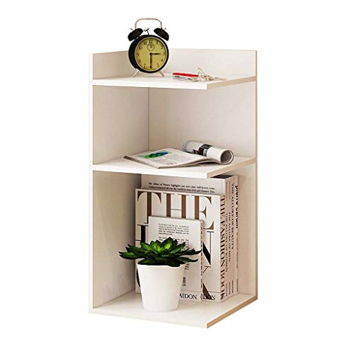 Estante de librería Simple Multi-capa Bookshelf Three-Story Corner Bookshelf, Simple Multi-Function Storage Rack Pantalla de estantería (Color: Blanco, Tamaño: B) Xping ( Color : White , Size : B )