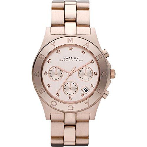 Marc Jacobs Damen-Armbanduhr Chronograph Quarz Edelstahl MBM3102